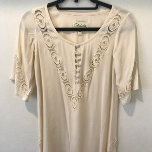 Cleobella mini ivory dress in Xs